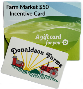 Farm Market $50 Incentive Card