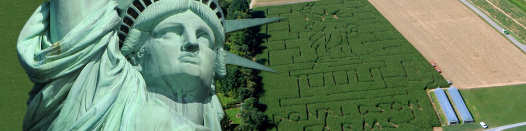 Corn Maze 2016 - Statue of Liberty