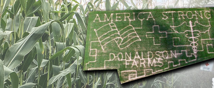 Corn Maze 2020: Celebrating healthcare workers