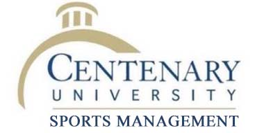 Racing Sponsor: Centenary University Sports Management